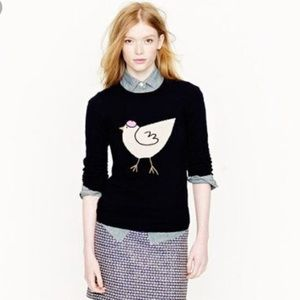 J. Crew Cashmere French Hen With Beret Sweater